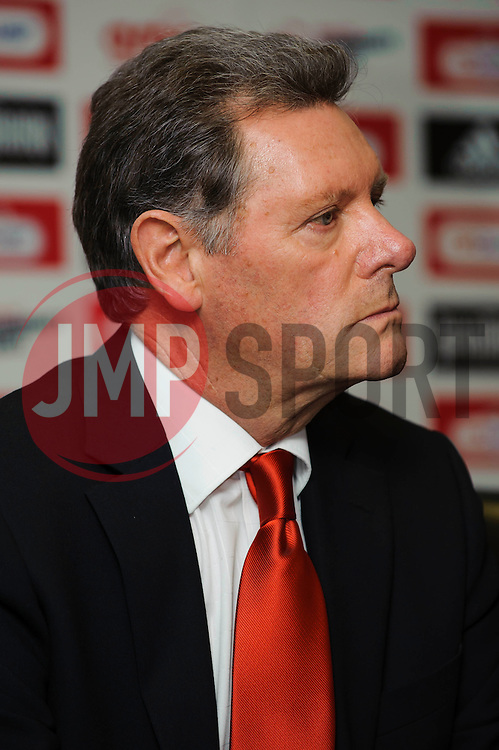 Bristol City Director Doug Harman speaks during the clubs Annual Supporters Meeting held in the AMC Communications Lounge - Photo mandatory by-line: Rogan Thomson/JMP - Tel: Mobile: 07966 386802 06/12/2012 - SPORT - FOOTBALL - Ashton Gate - Bristol - Club AGM.