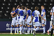 The Pirates celebrates after scoring a goal to make it 0-1 during the The FA Cup match between Notts County and Bristol Rovers at Meadow Lane, Nottingham, England on 3 November 2017. Photo by Jon Hobley.
