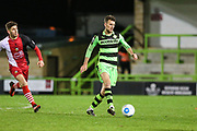 Forest Green Rovers Christian Doidge(9) passes the ball during the Vanarama National League match between Forest Green Rovers and Solihull Moors at the New Lawn, Forest Green, United Kingdom on 21 March 2017. Photo by Shane Healey.