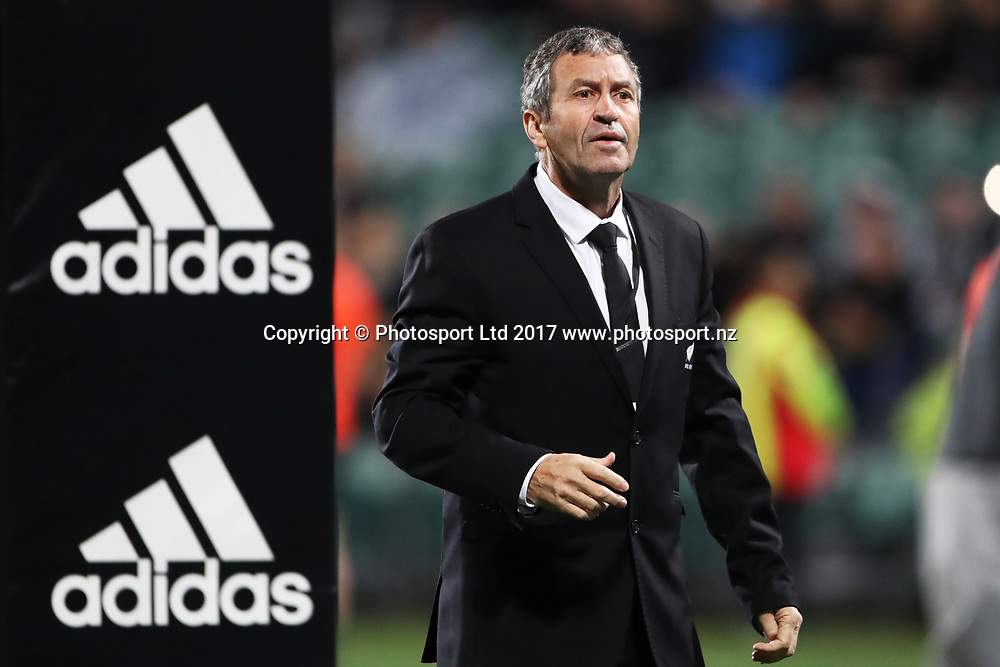 Assistant coach Wayne Smith during the Rugby Championship test match rugby union. New Zealand All Blacks v South Africa Springboks, QBE Stadium, Auckland, New Zealand. Saturday 16 September 2017. © Copyright photo: John Cowpland / www.Photosport.nz