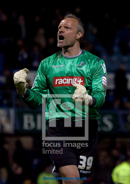 Picture by Daniel Chesterton/Focus Images Ltd. 07966 018899.10/04/12.Maik Taylor of Millwall celebrates after the Npower Championship match at Fratton Park stadium, Portsmouth.