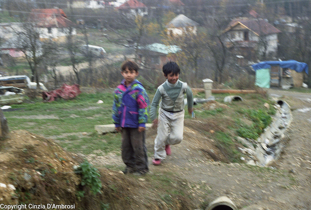 Roma in an enclavein Tuzla, Bosnia Herzegovina. Roma live without access to education, health, adeguate housing and employment.