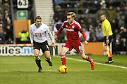 Cardiff City midfielder Craig Noone on the ball during the Sky Bet Championship match between Derby County and Cardiff City at the iPro Stadium, Derby, England on 21 November 2015. Photo by Aaron Lupton.