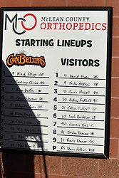 08 July 2016:  during a Frontier League Baseball game between the Florence Freedom and the Normal CornBelters at Corn Crib Stadium on the campus of Heartland Community College in Normal Illinois