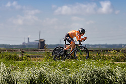 LANGEVELD Sebastian from NETHERLANDS during Men Elite Time Trial at 2019 UEC European Road Championships, Alkmaar, The Netherlands, 8 August 2019. <br /> <br /> Photo by Thomas van Bracht / PelotonPhotos.com <br /> <br /> All photos usage must carry mandatory copyright credit (Peloton Photos | Thomas van Bracht)