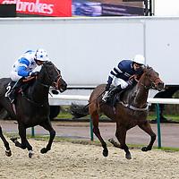 My Sweet Lord and Richard Kingscote winning the 1.55 race