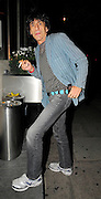 01.09.2008. LONDON<br /> <br /> RONNIE WOOD HAVING A BREAK FROM REHAB AND HAVING DINNER WITH SNOOKER PLAYER RONNIE O'SULLIVAN AND DAMIEN HIRST AT LOCATELLI RESTAURANT IN MARBLE ARCH, RONNIE ESCAPED OUT THE BACK DOOR OF THE RESTAURANT.<br /> <br /> BYLINE: EDBIMAGEARCHIVE.CO.UK<br /> <br /> *THIS IMAGE IS STRICTLY FOR UK NEWSPAPERS AND MAGAZINES ONLY*<br /> *FOR WORLD WIDE SALES AND WEB USE PLEASE CONTACT EDBIMAGEARCHIVE - 0208 954 5968*
