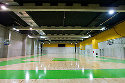 Second basketball Arena for teams warming up.  A week before the opening of a new football stadium and sports arena in Stozice, on August 4, 2010, in Stozice, Ljubljana, Slovenia.  (Photo by Vid Ponikvar / Sportida)