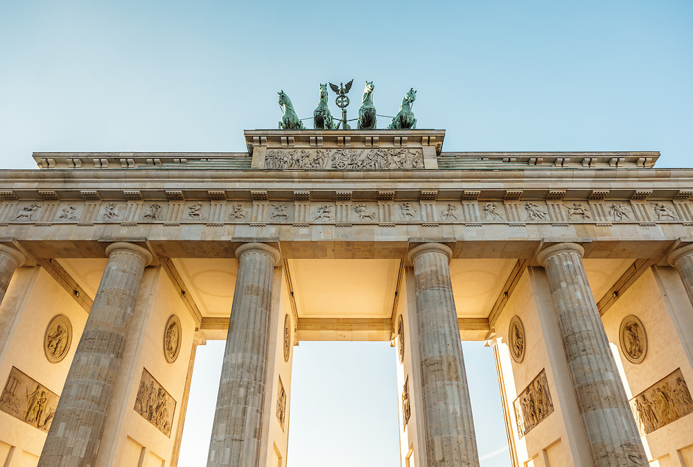 The infamous Brandenburg Gate in Berlin.