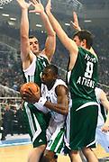 DESCRIZIONE : Atene Eurolega 2008-09 Quarti di Finale Gara 1 Panathinaikos Montepaschi Siena<br /> GIOCATORE : Romain Sato<br /> SQUADRA : Montepaschi Siena<br /> EVENTO : Eurolega 2008-2009<br /> GARA : Panathinaikos Montepaschi Siena<br /> DATA : 24/03/2009<br /> CATEGORIA : penetrazione<br /> SPORT : Pallacanestro<br /> AUTORE : Agenzia Ciamillo-Castoria/Action Images.gr
