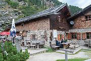 Sulzenaualm cafe and restaurant, Sulzenau, Stubai, Tyrol, Austria