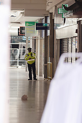 © Licensed to London News Pictures. 21/03/2018. London, UK. Police inside the cordon inside the shopping centre, the Stratford Centre in east London today, where a murder investigation has been launched after a man, believed to be in his early 20's was fatally stabbed last night. Photo credit: Vickie Flores/LNP