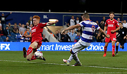 Conor Washington of Queens Park Rangers scores his sides second goal against Swindon Town - Mandatory by-line: Robbie Stephenson/JMP - 10/08/2016 - FOOTBALL - Loftus Road - London, England - Queens Park Rangers v Swindon Town - EFL League Cup
