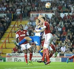 Bristol Rovers' Mark McChrystal scores a goal.  - Photo mandatory by-line: Dougie Allward/JMP - Tel: Mobile: 07966 386802 04/09/2013 - SPORT - FOOTBALL -  Ashton Gate - Bristol - Bristol City V Bristol Rovers - Johnstone Paint Trophy - First Round - Bristol Derby