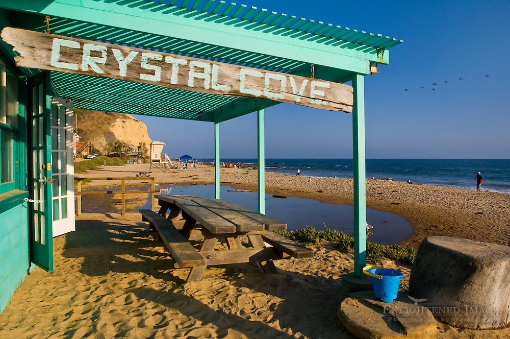Picnic Table at Crystal Cove State Park Historic District, Corona del Mar, Newport Beach, California