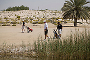 Abu Dhabi, United Arab Emirates (UAE). .March 20th 2009..Al Ghazal Golf Club..36th Abu Dhabi Men's Open Championship..John Fellingham (middle)