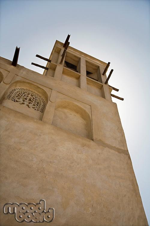 UAE, Dubai, traditional windtower in the Bastakia Quarter of Bur Dubai