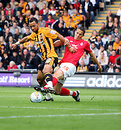 Hull Saturday september 18th, 2010: John Bostock of Hull City and Chris Cohen of Nottingham Forrest Battle over the ball, during the NPower Championship Match at the KC Stadium,Hull. (Pic by Darren Walker/Focus Images)..