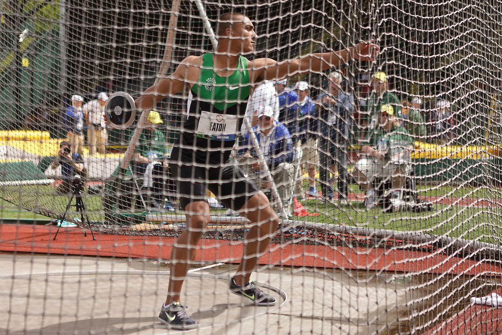 Olympic Trials Eugene 2012: Decathlon, Discus, Ashton Eaton