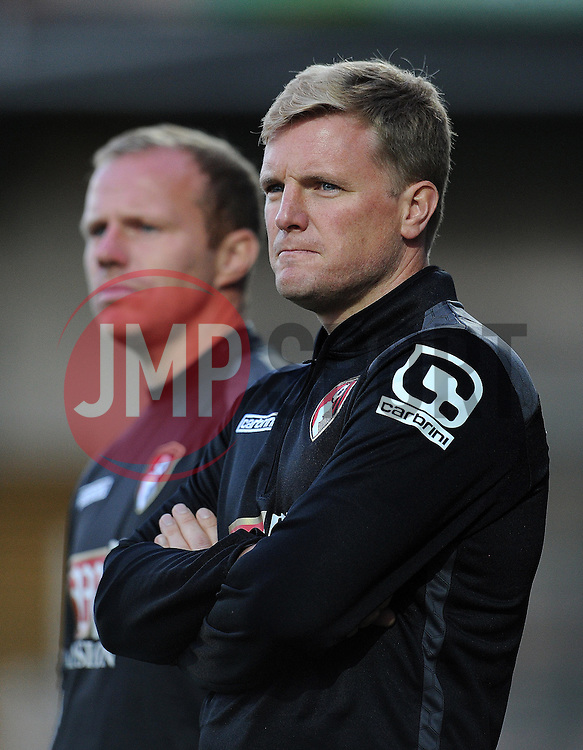 Bournemouth's Manager Eddie Howe. - Photo mandatory by-line: Harry Trump/JMP - Mobile: 07966 386802 - 28/07/15 - SPORT - FOOTBALL - Pre Season Fixture - Yeovil Town v Bournemouth - Huish Park, Yeovil, England.