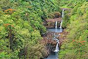 Umauma Falls on the Big Island of Hawaii