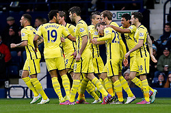 Christian Eriksen of Tottenham Hotspur celebrates scoring a goal from a free kick to make it 0-1 - Photo mandatory by-line: Rogan Thomson/JMP - 07966 386802 - 31/01/2015 - SPORT - FOOTBALL - West Bromwich, England - The Hawthorns - West Bromwich Albion v Tottenham Hotspur - Barclays Premier League.