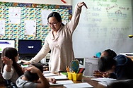 Math: Guilford County Schools' Arts Integration Academy at Allen Jay Elementary School.<br /> <br /> Photographed, Monday, January 7, 2019, in High Point, N.C. JERRY WOLFORD and SCOTT MUTHERSBAUGH / Perfecta Visuals