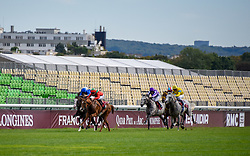 September 16, 2018 - Paris, France - Course 5 - Waldgeist - Pierre Charles Boudot (Credit Image: © Panoramic via ZUMA Press)