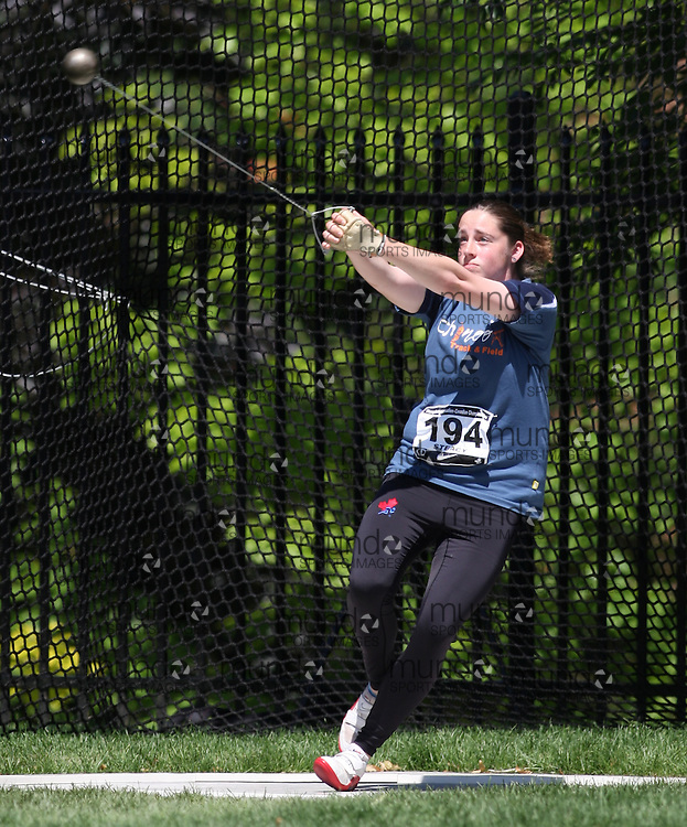 (Toronto, Ontario---27/06/09)   Sean Steacy competing in  women's hammer throw at the 2009 Canadian National Track and field Championships. Photograph copyright Sean Burges / Mundo Sport Images, 2009. www.mundosportimages.com / www.msievents.