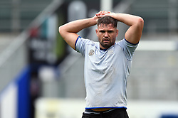 Elliott Stooke looks on, Bath Rugby were allowed to start Stage Two of the Premiership Rugby return to play protocol - Mandatory byline: Patrick Khachfe/JMP - 07966 386802 - 06/08/2020 - RUGBY UNION - The Recreation Ground - Bath, England - Bath Rugby training