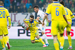 Serhiy Rybalka (UKR) and Zlatan Ljubljankic (SLO) during the UEFA EURO 2016 Play-off for Final Tournament, Second leg between Slovenia and Ukraine, on November 17, 2015 in Stadium Ljudski vrt, Maribor, Slovenia. Photo by Urban Urbanc / Sportida