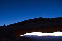 Waiting for the sunrise, Mesa Arch, Canyonlands National Park, Utah.