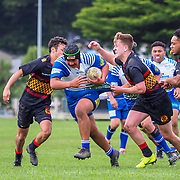 Action during the rugby union game played between Nothern United v Paremata-Plimmerton (Colts) played at Ngatitoa Domain, Mana, New Zealand, on 4 May 2019. Final score 19-18 to Norths.