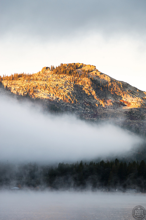 """Donner Lake Morning 10"" - Photograph of a foggy morning at Donner Lake, shot from the public boat launch."