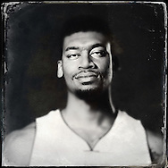 Sep 29, 2014; Auburn Hills, MI, USA;  (Editor's Note: Photo was post-processed creating a digital tintype) Detroit Pistons forward Tony Mitchell (9) during media day at the Pistons practice facility. Mandatory Credit: Rick Osentoski-USA TODAY Sports