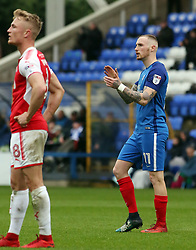 Marcus Maddison of Peterborough United claps the home supporters as he leaves the field to be substituted - Mandatory by-line: Joe Dent/JMP - 28/04/2018 - FOOTBALL - ABAX Stadium - Peterborough, England - Peterborough United v Fleetwood Town - Sky Bet League One