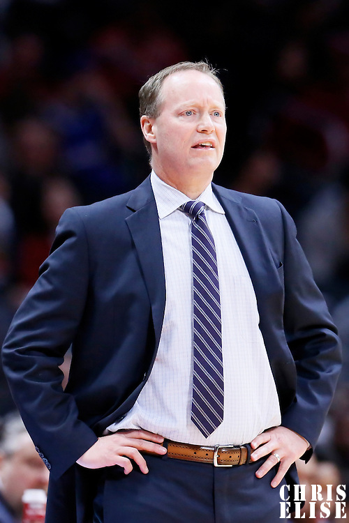 05 January 2014: Atlanta Hawks head coach Mike Budenholzer is seen during the Atlanta Hawks 107-98 victory over the Los Angeles Clippers, at the Staples Center, Los Angeles, California, USA.