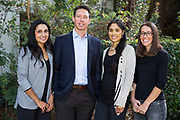 Dr. Rabitz Pediatric Dentistry associates pose for a portrait at Dr. Rabitz Pediatric Dentistry in San Jose, California, on October 31, 2017. (Scott MacDonald for Stan Olszewski/SOSKIphoto)