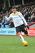 Matthew Briggs of colchester United during the Sky Bet League 1 match between Scunthorpe United and Colchester United at Glanford Park, Scunthorpe, England on 23 January 2016. Photo by Ian Lyall.