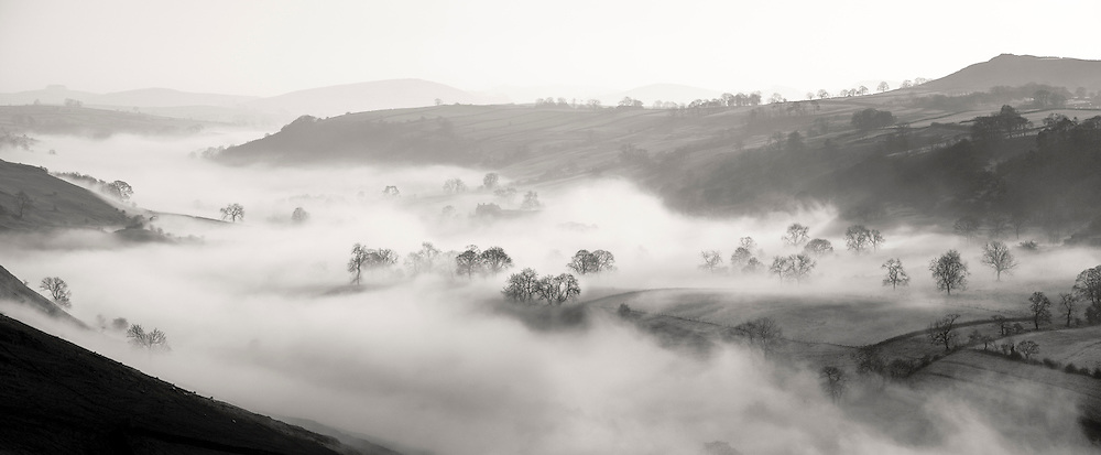 Mist in the Upper Dove valley, Peak District