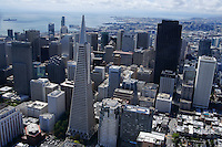 Downtown San Francisco featuring the Transamerica Pyramid (Aerial)