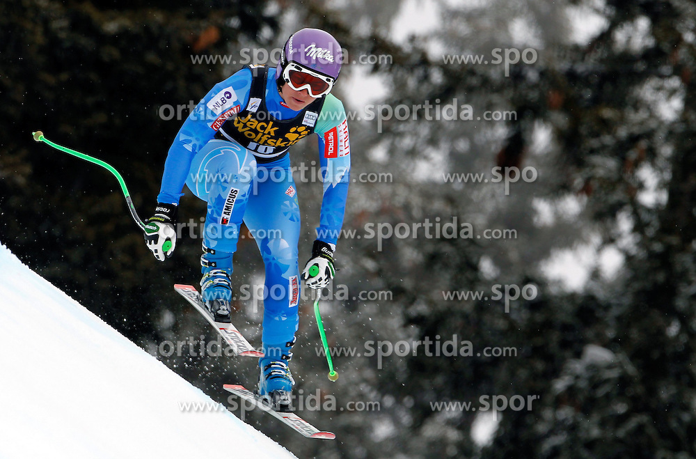 27.02.2014, MontLachaux, Crans Montana, SUI, FIS Weltcup Ski Alpin, Abfahrt, Damen, 1. Trainingslauf, im Bild Tina Maze (SLO) // during the 1st practice run of the ladies downhill of the Crans Montana FIS Ski Alpine World Cup at the MontLachaux course in Crans Montana, Switzerland on 2014/02/27. EXPA Pictures &copy; 2014, PhotoCredit: EXPA/ Freshfocus/ Gerard Berthoud<br /> <br /> *****ATTENTION - for AUT, SLO, CRO, SRB, BIH, MAZ only*****