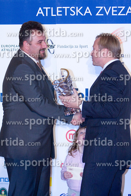 Best coach of the year Vladimir Kevo and Peter Kukovica at Best Slovenian athlete of the year ceremony, on November 15, 2008 in Hotel Lev, Ljubljana, Slovenia. (Photo by Vid Ponikvar / Sportida)