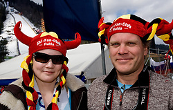 Fans of German Ski Fan Club Ruhla during Flying Hill Team First Round at 4th day of FIS Ski Flying World Championships Planica 2010, on March 21, 2010, Planica, Slovenia.  (Photo by Vid Ponikvar / Sportida)