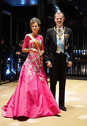 October 22, 2019, Tokyo, JAPAN: 22-10-2019 Gala Royals arrive at the Imperial Palace for the Court Banquets, the 'Kyoen-no-gi' banquet, after the ceremony of the enthronement of Emperor Naruhito in Tokyo, Japan Queen Letizia and King Felipe. (Credit Image: © face to face via ZUMA Press)