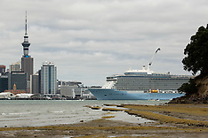 Auckland-Ovation of the Seas liner leaves after first visit to New Zealand