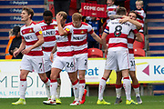 Goal Doncaster Rovers Celebrate as Kieran Sadlier Of Doncaster Rovers scores a goal 1-0 during the EFL Sky Bet League 1 match between Doncaster Rovers and Bristol Rovers at the Keepmoat Stadium, Doncaster, England on 19 October 2019.