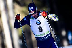 Artem Pryma (UKR) during the Men 20 km Individual Competition at day 1 of IBU Biathlon World Cup 2019/20 Pokljuka, on January 23, 2020 in Rudno polje, Pokljuka, Pokljuka, Slovenia. Photo by Peter Podobnik / Sportida
