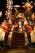 The religious, secular and weird blend in many of the Christmas displays.
