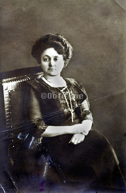 early 1900s portrait adult woman sitting